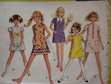 VINTAGE 1970'S McCALLS GIRL'S EASY A-LINE DRESS SEWING PATTERN