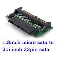 1.8 Inch Micro SATA HDD SSD 3.3V to 2.5 Inch 22PIN SATA 5V Adapter