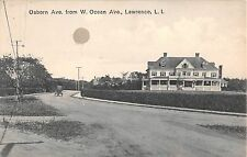 1913? Homes Osborn Ave. from W. Ocean Ave. Lawrence LI NY post card
