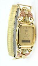 Vintage Seiko Mens Wrist Watch w/10K GOLD Band Ends: ~16 GRAMS H601-5430