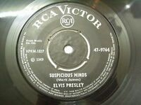 "ELVIS PRESLEY suspicious minds/you'll think of me RARE SINGLE 7"" INDIA INDIAN EX"