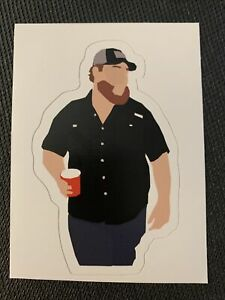 """Luke Combs Holding Beer Cup Sticker Music Guitar Country - 3.8"""" x 2.3"""""""