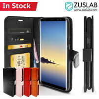 Galaxy Note 8 Case ZUSLAB Detachable Leather Card Slot Wallet Cover for Samsung