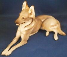 Nymphenburg Porcelain German Shepherd Dog Figure Figurine Porzellan Hund Figur b