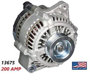 200 AMP 13675 Alternator Acura RL 3.5L 1996-2004 High Output Performance HD USA