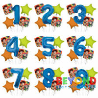 "Disney Toy Story Balloons 34"" Number Balloon Mylar Blue Set of 5 Bouquet"