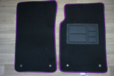 Car Floor Mats Custom Made Front Pair w/Purple Edging for Holden Commodore VE