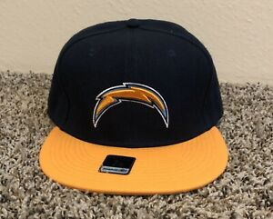 Los Angeles Chargers Reebok Fitted Hat Cap 7 3/8 Embroidered NFL Sideline NWT