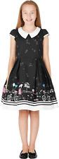 Kids BLACK 'Olivia' Vintage Sunshine 50's Party Girls Prom Dress