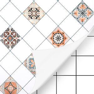 Mosaik Fliesen PVC Folie Selbstklebend für Küche Bad Dekofolie Klebefolie Tapete