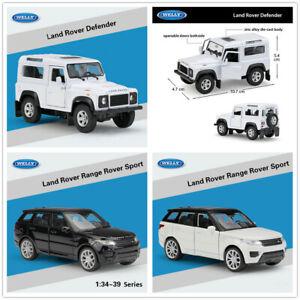WELLY 1:36 Land Rover Defender / Range Rover Sport Diecast Pull Back Car Model