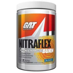 GAT NITRAFLEX Pre-Workout Burn 💥 Blue Raspberry 30 servings USA 💥PINK LEMONADE