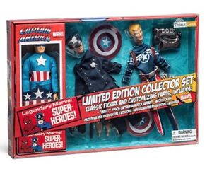 Marvel Captain America 1940's Capt. America Figurine With Accessories. NEW IN BO