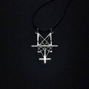 Deicide Pendant Necklace Trifixion Legion Logo Satanic Symbol Stainless Steel