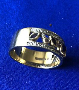 9ct Gold Amethyst, Sapphire, Diamond Dress Ring, Size T