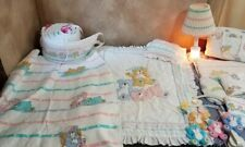 Dundee Baby Bedding Set Vtg 14 piece baby nursery blankets sheets lamp mobile