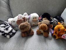 PUFFKINS Lot of 9 ~ ZOO Animals ~ Giraffe ~ ELEPHANT ~ Zebra ~ OX ~ KOALA ~ Ape