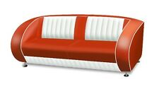 Retro 50's Furniture American Style Sofa Couch - Red