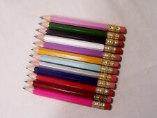 """100 Golf Pencils """"Assorted Colors"""" w/Erasers"""