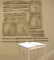 P&D Marsh N Gauge N Scale M61 Steel side skirt canopy building - double bay kit