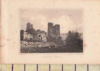 C1815 Antiguo Pequeño Georgiano Estampado ~ Hadley Castillo ~ Essex