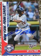 Detroit Tigers PJ P.J. Polk 2010 New York Penn League Top Prospects Card