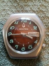 Vintage 1970 Bulova Accutron Date Tuning Fork Watch Style Worn By Astronauts VGC