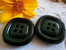 duo gros boutons vintage épais vert carré diamètre: 3,1 cm ref 2108