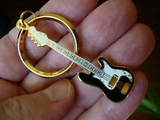 (M219B) FENDER P BASS electric GUITAR KEYCHAIN Jewelry 24k gold plate key ring