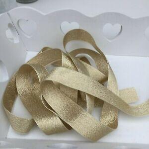 Gold Neat Edge Sheen Ribbon, Bouquets, Bows,Trim,Crafts,Card 1 Metre