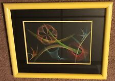 Vtg Abstract 60s 70s Colorful String Art Wall Hanging Retro Mid Century Modern Y