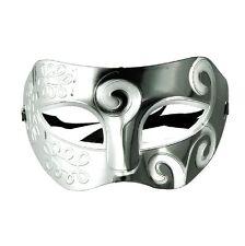 Homme Masque Pour Les Yeux Venezian faciale Carnaval Gladiateur noir blanc