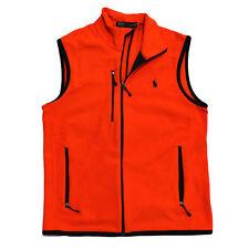 Polo Ralph Lauren Mens Vest Fleece Pony Logo Mock Neck Full Zip Up Prl New Nwt
