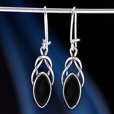 Onyx Silber 925 Ohrringe  Ohrhänger H592