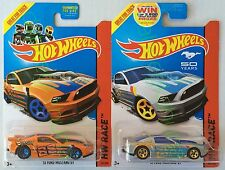 Hot Wheels - 13 Ford Mustang Gt - Orange & Silver - Two - Diecast