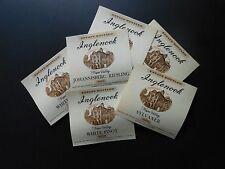 6 VTG WINE BOTTLE LABELS INGLENOOK JOHANNISBERG RIESLING, SYLVANER & WHITE PORT