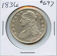 1836 Capped Bust Silver Half Dollar. Almost Uncirculated. Lot #240