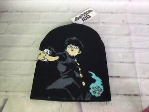 Mob Psycho 100 Anime Shigeo Kageyama Graphic Print Knit Beanie Hat Cap