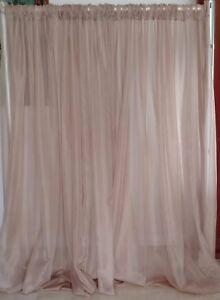 "Wedding Backdrop Drapes  panels 11 ft x114"" white, ivory, black, room divider."
