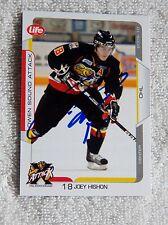 Colorado Avalanche Joey Hishon Signed 09/10 Owen Sound Attack Card Auto