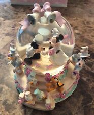 Disney Snow Globe Mickey and Minnie Wedding with Box - Wedding March