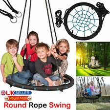 60cm Kids Nest Swing Crows Round Rope Outdoor Garden Hanging Seat