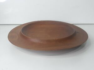 Beautiful Piece Of Turned Wood Shallow Bowl? Lid?