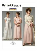 B6074 Sewing Pattern Historical Dress Regency Jane Austen Pride & Prejudice