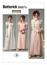 B6074 Sewing Pattern Historical Dress Regency Jane Austen Pride & Prejudice