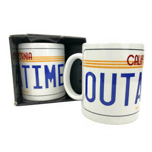 NEW Back to the Future OUTATIME License Plate Mug | FREE Shipping