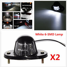 2x License Plate White 6-SMD Lamp LED Car  Light Motorcycle Bulb Bolt Universal