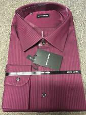"""Pierre Cardin Self Stripe Shirt/Wine - 19"""" (3XL) WAS £40.00"""