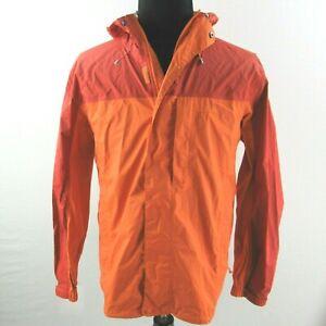LL Bean Nylon Hooded Jacket Mens XL Rain Wind Softshell Orange Red