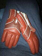 Vintage Saranac Leather Snowmobile Ski Mittens Gloves Brown Ladies Swinter Usa